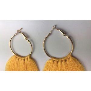 Jewelry - Yellow Tassel Earrings